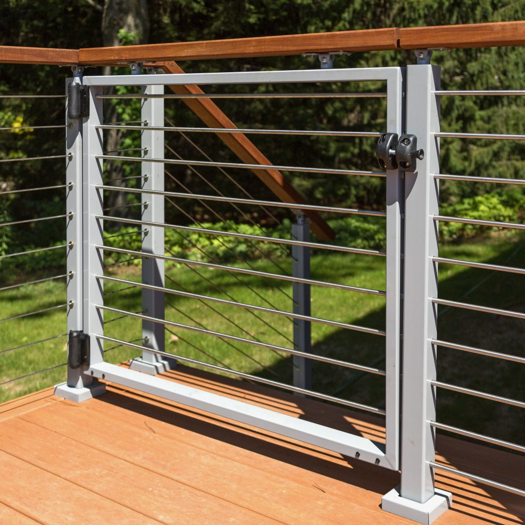 Stainless steel cable by the foot railing systems