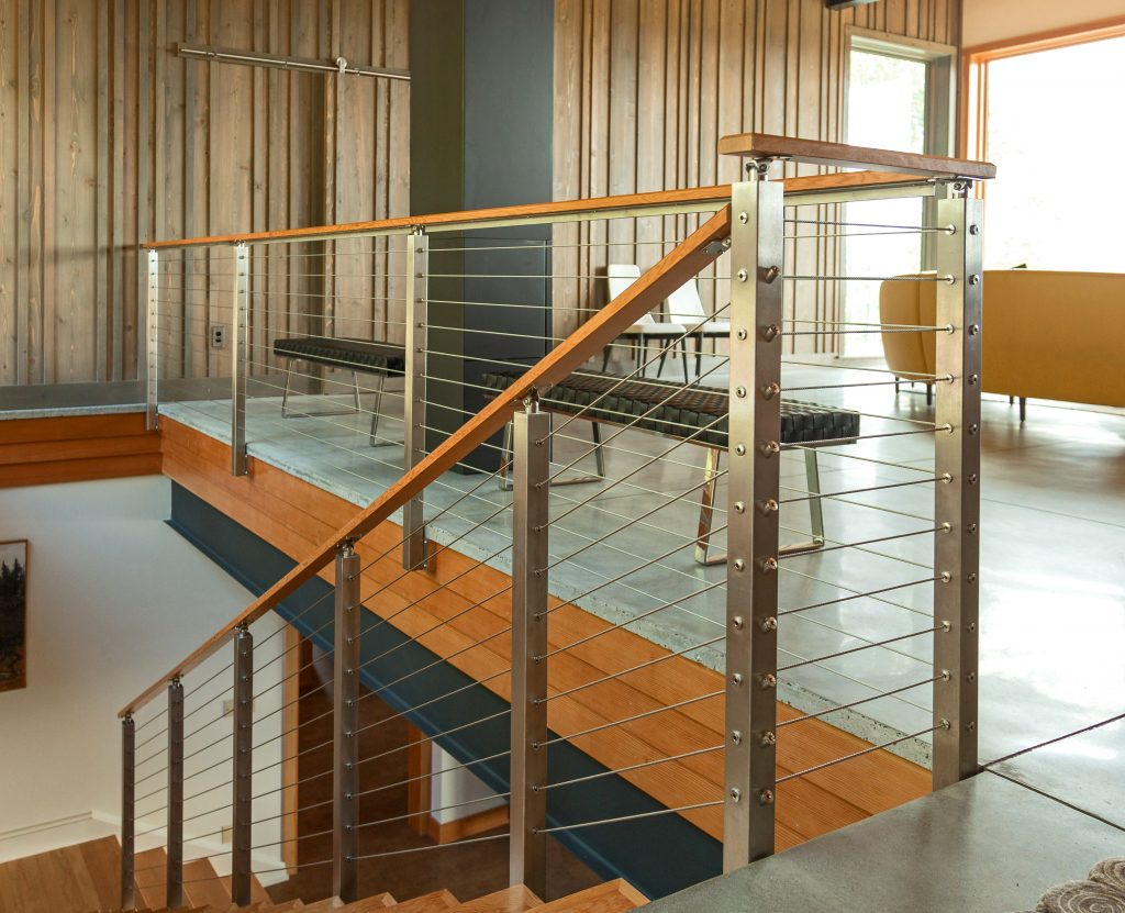 5 32 stainless steel cable by the foot cable railing systems for Stainless steel railings interior
