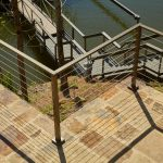 Flat Top Cable Railing Posts with Bronze Powder Coat