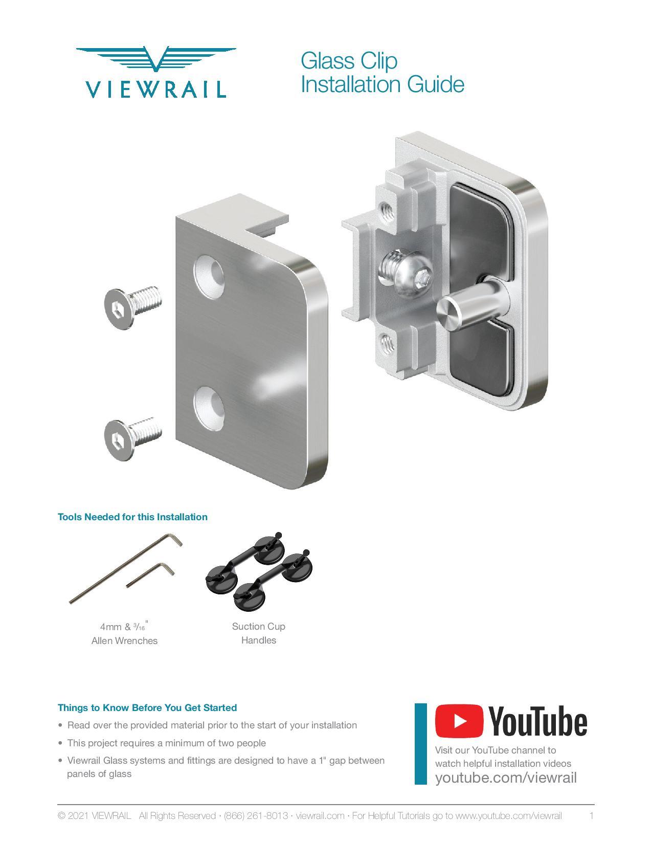 Glass Clip Installation Instructions