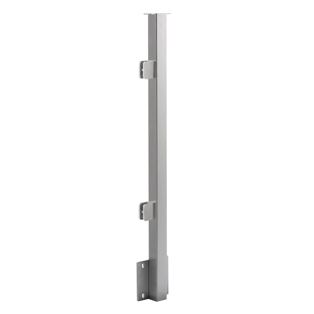 Side Mount Flat Top 2 Quot Square Glass Railing Post