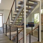 Aluminum Posts with White Oak Handrail