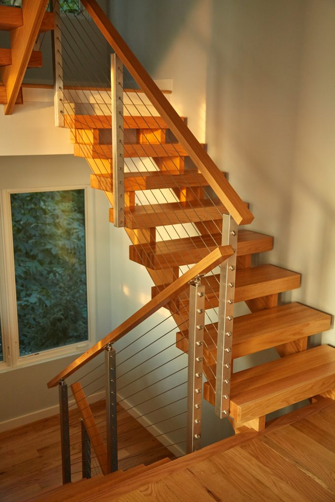 Wood Floating Stairs