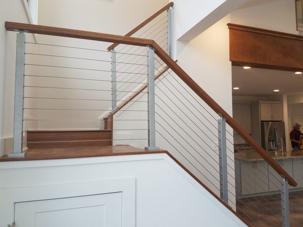 """Angle Foot Universal Top Square 2"""" Cable Railing Post ..."""