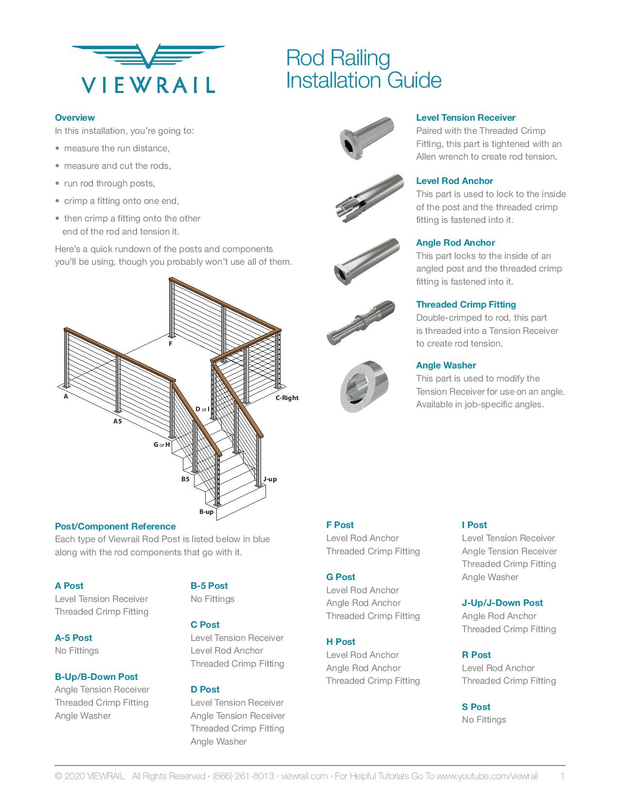 Rod Railing Installation Guide