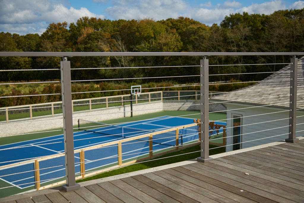 Cable Railing with basketball court