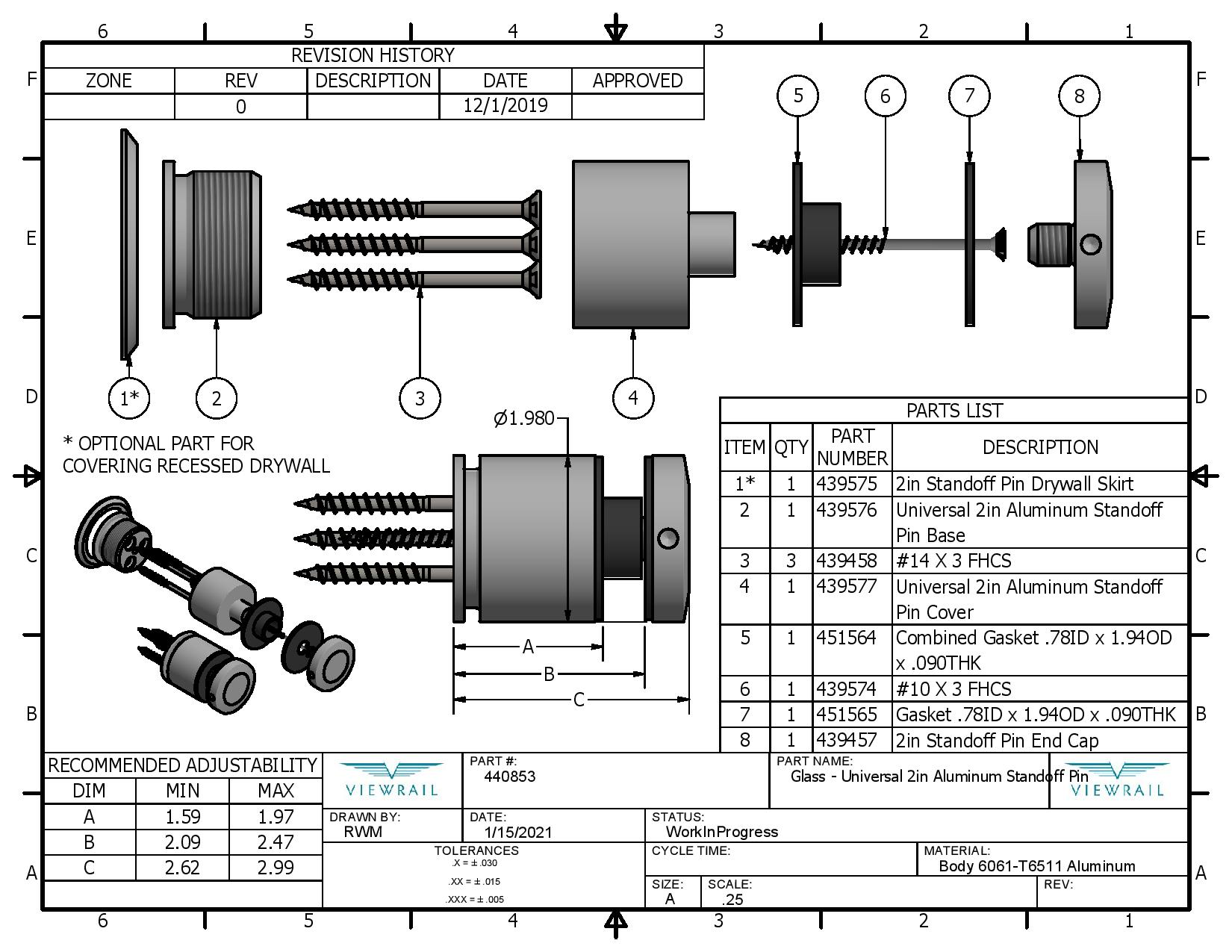 Glass - Universal 2in Aluminum Standoff Pin-page-001
